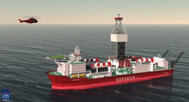 Drill ship from another project similar to the ships being built for Petrobras. Image courtesy of LMG Marin.