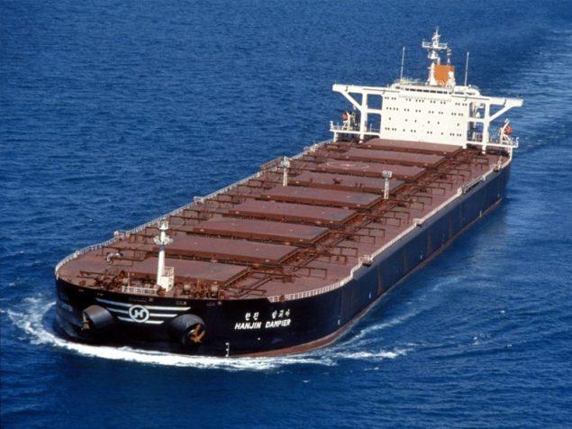 hanjin dampier capesize bulk carrier