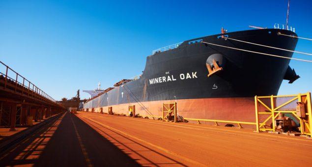 bhp billiton port hedland western australia bulk carrier