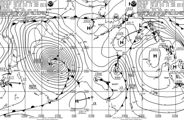 noaa pacific surface analysis