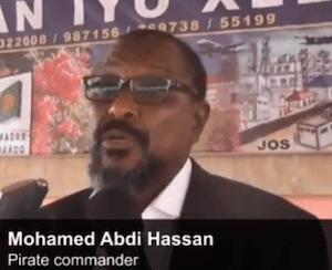 Mohamed Abdi Hassan during his retirement press conference.