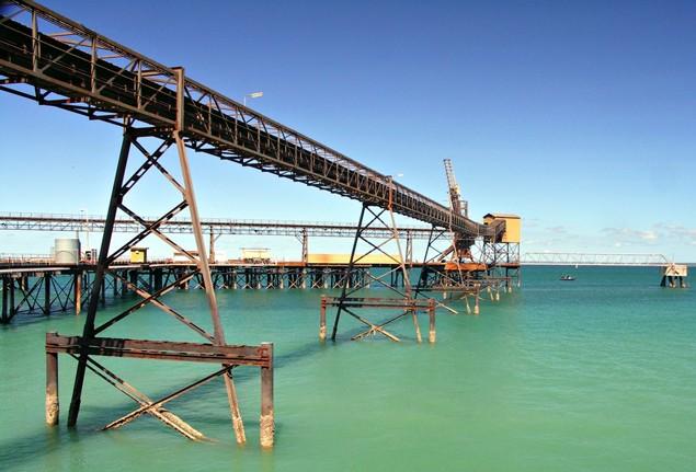 iron ore australia dry bulk pier darwin