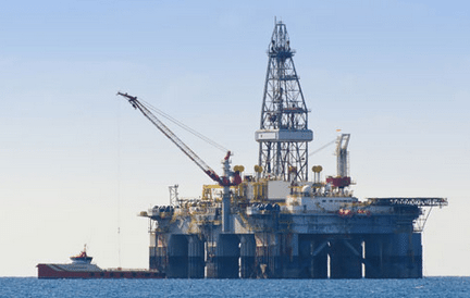 File photo Gulf Of Mexico oil rig and workboat. Photo via BSEE
