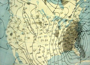 NOAA US Surface Analysis 13 March 1993