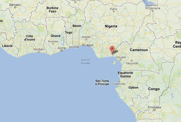 Location of Oron, Nigeria
