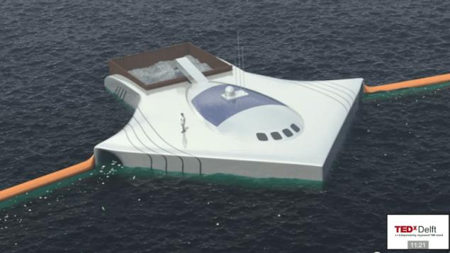 manta-ray shaped platform