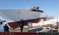 WATCH: VT Halter Marine Launches USNS Maury (T-AGS 66)