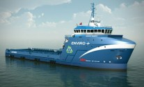 LNG-powered Offshore Supply Vessels like this one will support Shell's operations in the Gulf of Mexico. Image courtesy of Harvey Gulf International Marine.
