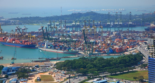 singapore shipping terminal tanjong pagar container shipping