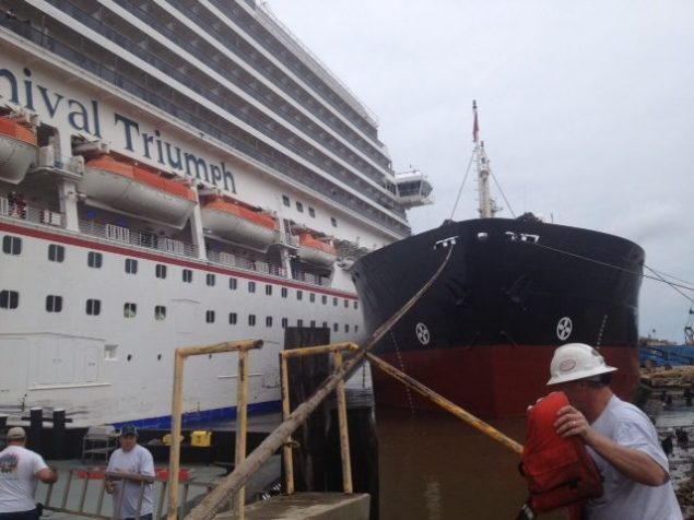 Carnival Triumph breaks loose from moorings