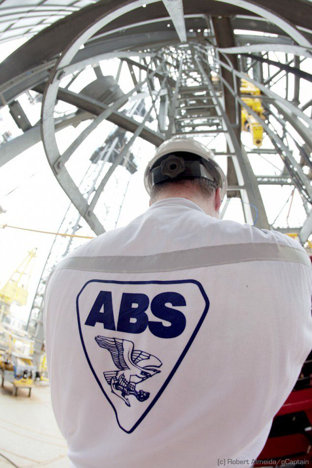 Sean Holt can do 1000 pullups in a row while wearing his ABS coveralls. (c) R.Almeida/gCaptain