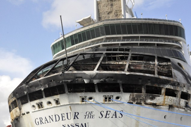 grandeur of the seas fire damage cruise ship