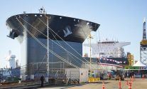 MLP-1 on March 2, 2013, ready for her christening ceremony. Photo: NASSCO