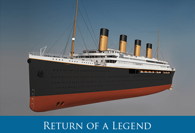 An artist's rendering of the Titanic II. Photo: Blue Star Line