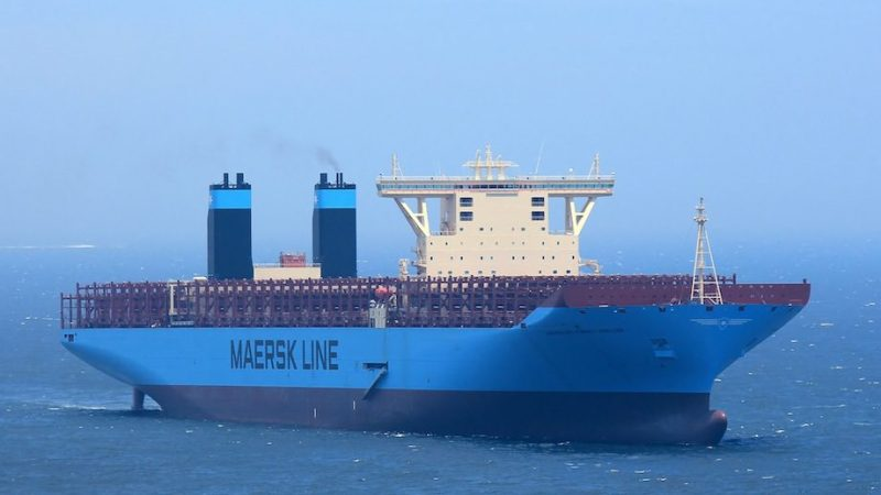 Maersk Triple-E during sea trials. File photo (c) lappino