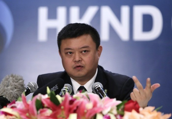 Wang Jing, HKND Group chairman, answers a question at a news conference in Beijing, June 25, 2013. The Hong Kong-based company, HKND Group, that won a concession to design, build and manage a $40 billion canal in Nicaragua to rival Panama's says it has been lured by an energy renaissance in the United States and its belief that world trade could double by 2030. REUTERS/Jason Lee