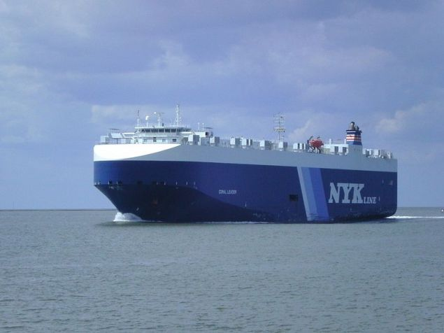The NYK car carrier, Coral Leader. File photo.