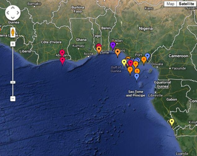 IMB's Live Piracy Map for 2013. Click HERE to interact.