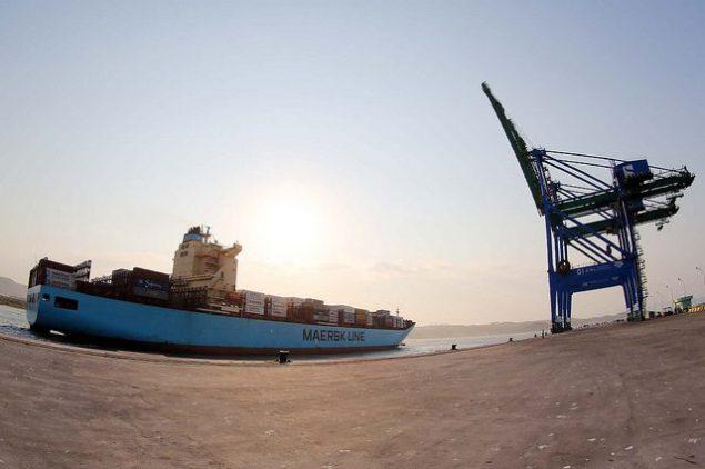 Navio Maersk Lavras santos brasil