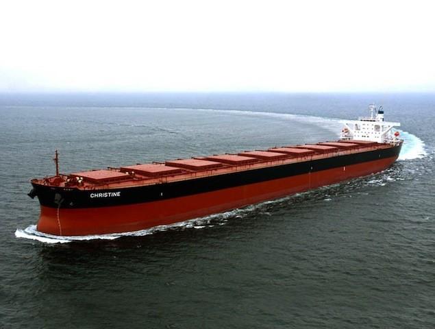 Excel Maritime's MV Christine. Photo courtesy Excel Maritime