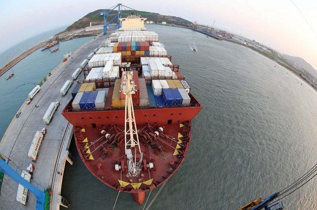 Operação do Navio Maersk Lavras santos brasil