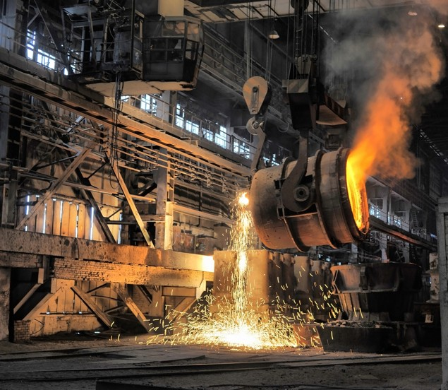 iron steel production factory industry