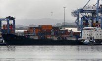 North Korean container ship ''Chong Chon Gang'' docked at the Manzanillo International Container Terminal in Colon City July 16, 2013. REUTERS/Carlos Jasso