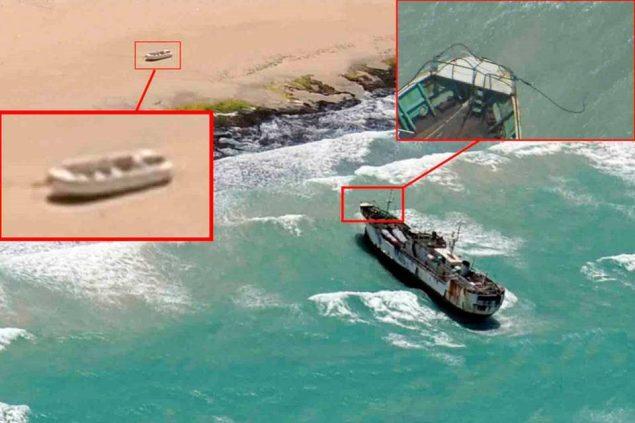 The FV NAHAM 3 seen close to the Somali coast. Photo: EUNAVFOR