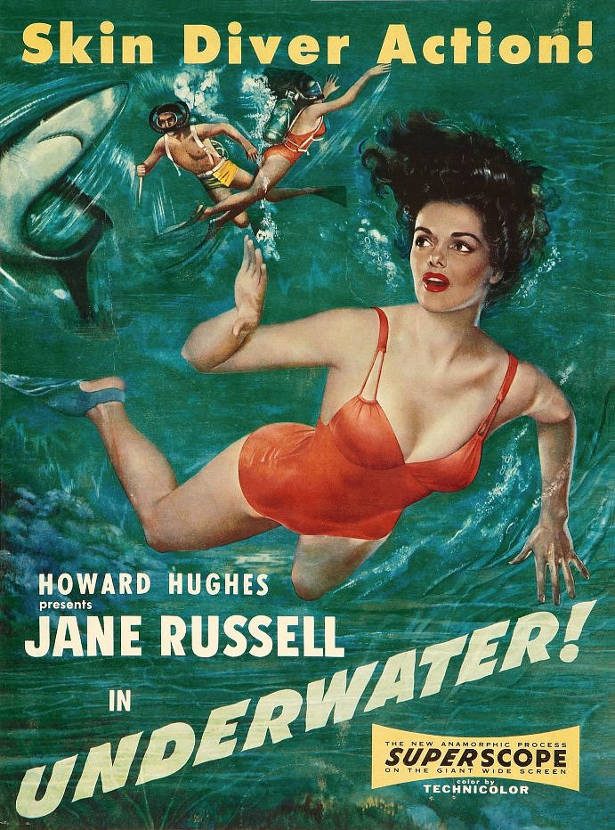 Underwater with Jane Russell