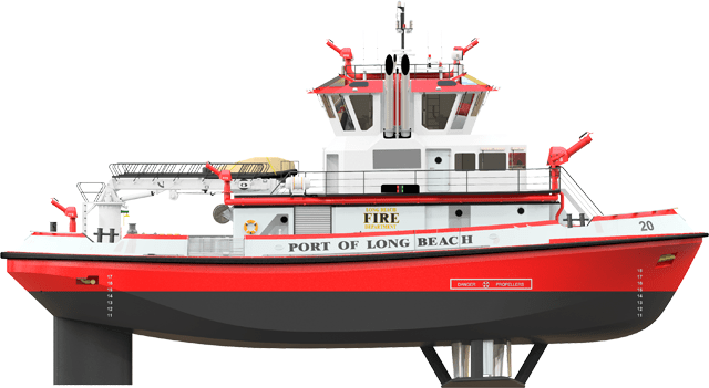 port of long beach fireboat robert allan