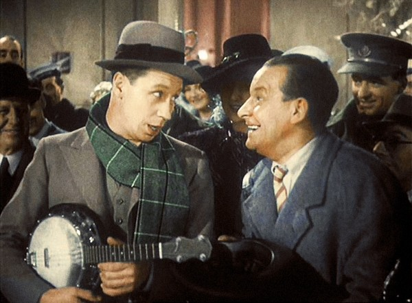 George Formby and Hal Gordon in Let George Do It