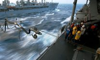 US NAVY UNREP At Sea