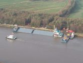 Kiel Canal Reopens After Bulldozers Secure Half-Sunk MV Siderfly [PHOTOS]