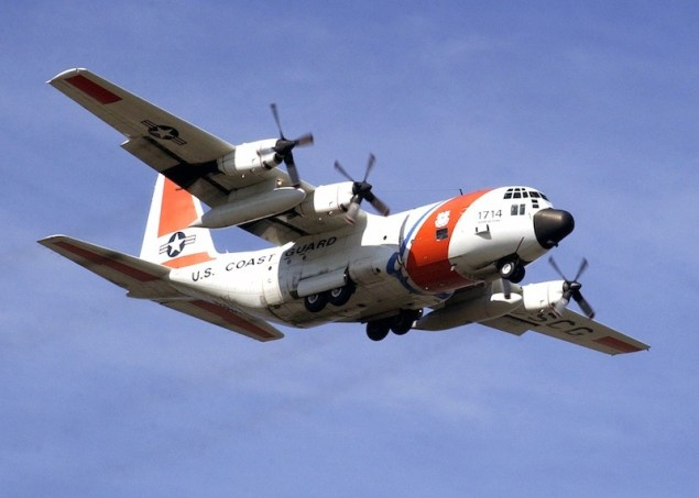 "File photo of a U.S. Coast Guard HC-130 ""Hercules"" aircraft. U.S. Coast Guard Photo"