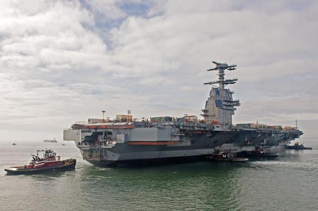 Gerald R. Ford (CVN 78) launch at the Newport News shipyard, November 17, 2013. Image courtesy Huntington Ingalls via Facebook