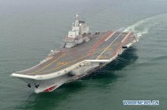 China's New Aircraft Carrier Steams Towards Disputed South China Sea For Drills