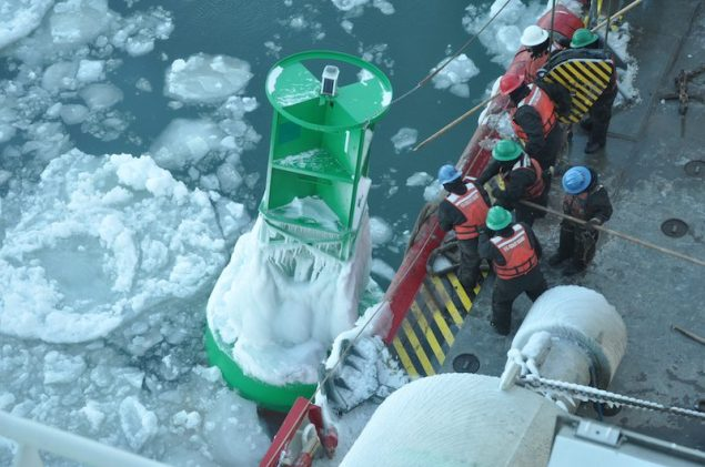 USCGC Mackinaw during Operation Fall Retrieve