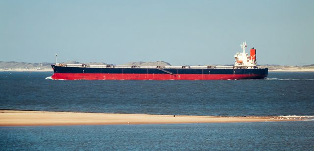 bulk carrier north sea sand bank shipping bulker