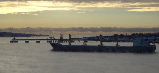 jeff musk portland harbor maine winter shipping