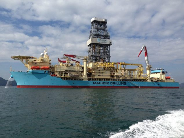 Maersk Drillling newest (and first) ultra-deepwater drillship, Maersk Viking. Image (c) Maersk Drilling