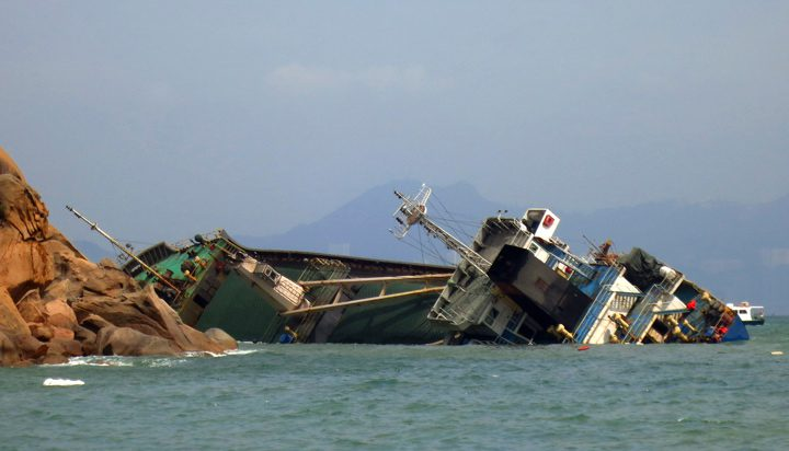 cargo ship Cheung Chau aground