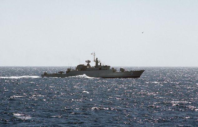 File photo of Iranian Alvand class frigate underway.