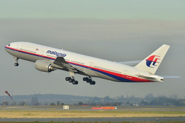 The Boeing B777-200 aircraft was delivered to Malaysia Airlines in 2002 and has since recorded 53,465.21 hours with a total of 7525 cycles. File Photo.