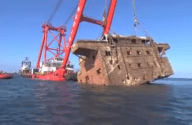 RAW VIDEO: Resolve Raises and Removes MV Rena Accommodation Block