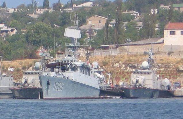 File photo of a Ukranian Navy corvette docked in Sevastopol.