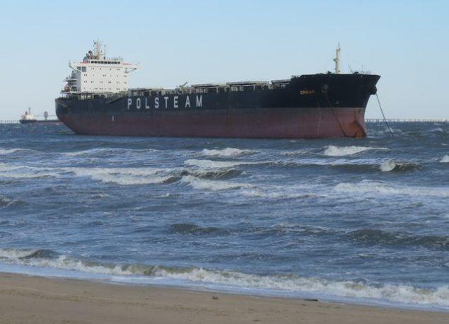 bulk carrier ornak aground