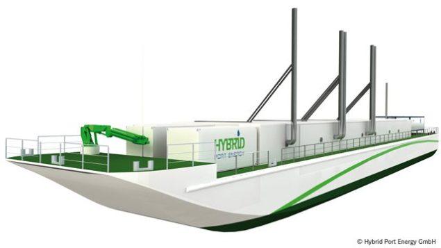 lng hybrid barge becker marine systems