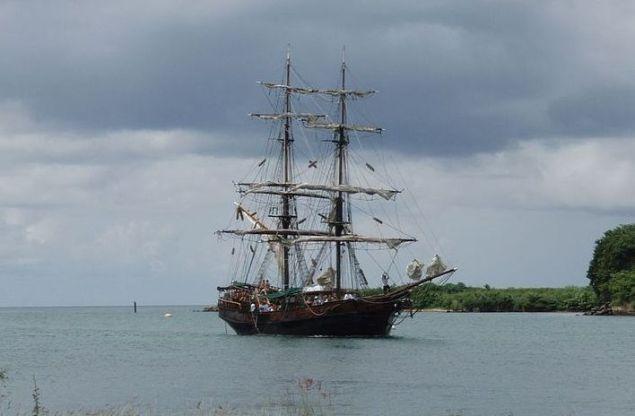 2006 file photo of the TS Brig Unicorn. Photo via wikimedia commons/pinguino