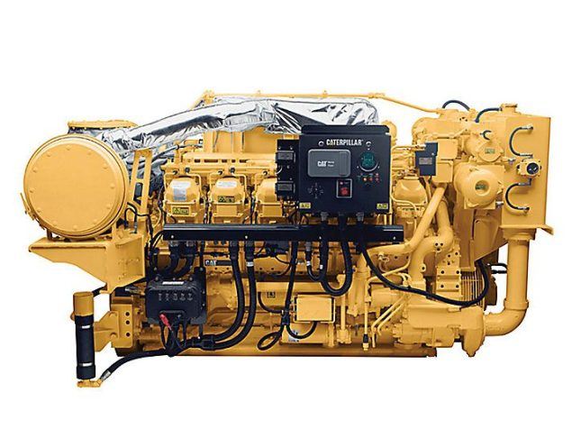 CAT 3512C marine propulsion engine