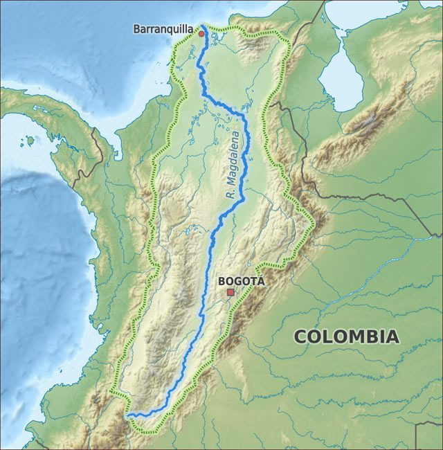 magdalena map colombia